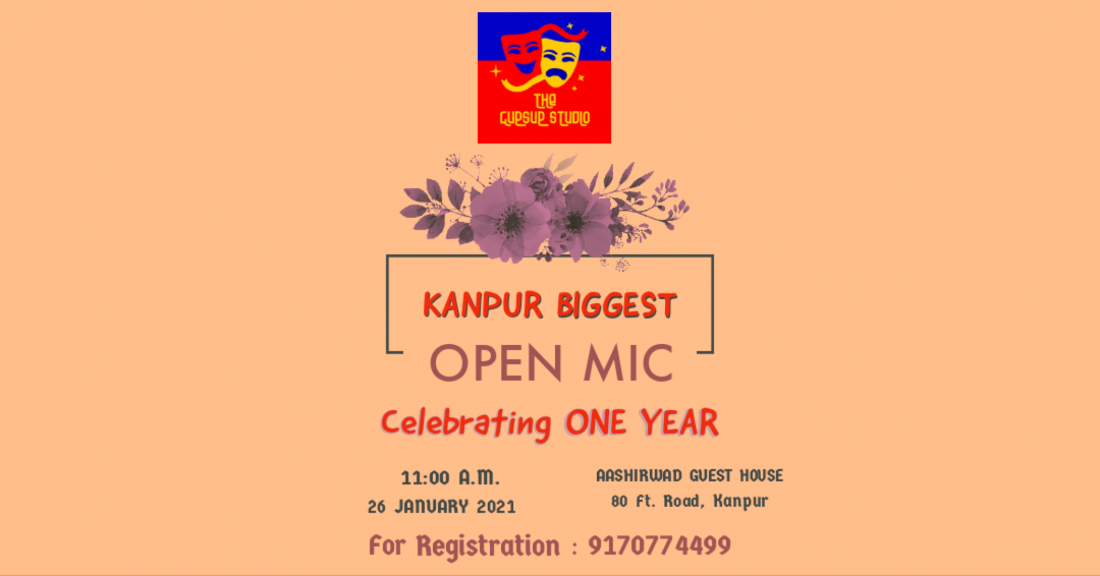 1st Foundation Day & OPEN MIC, 26 January | Event in Kanpur | AllEvents.in