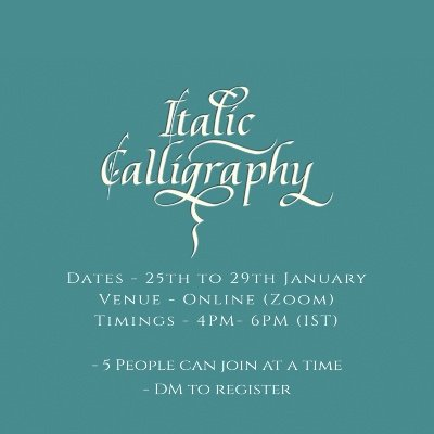 Italic Calligraphy - Beginners Workshop