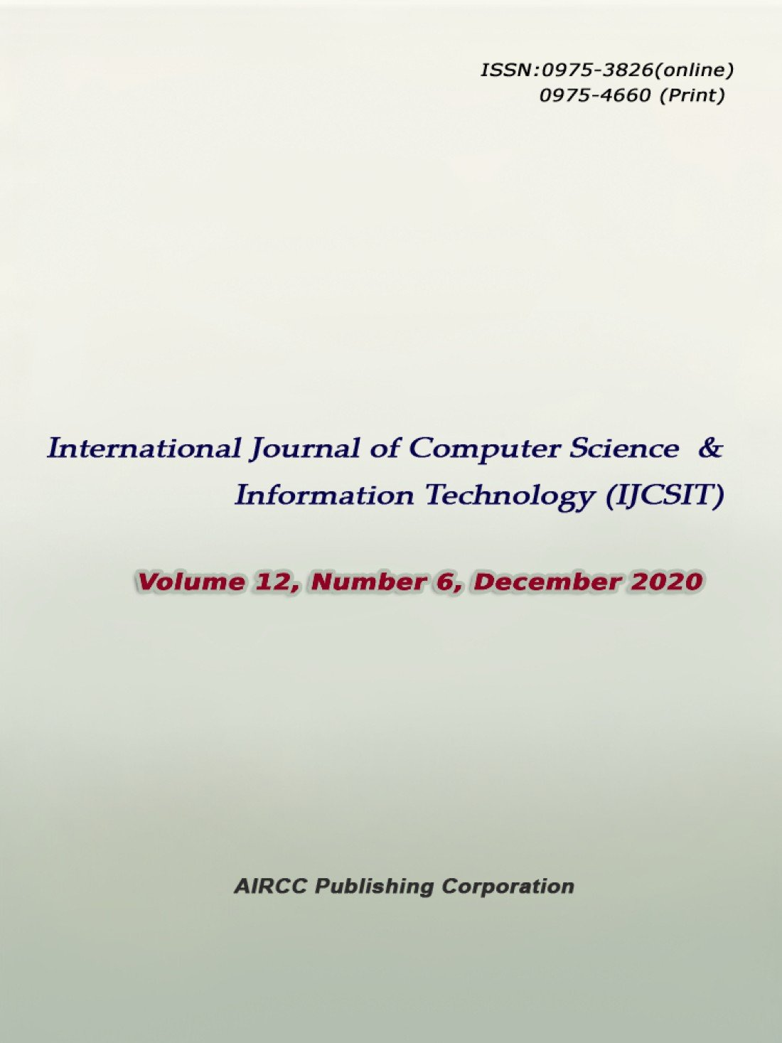 International Journal of Computer Science and Information Technology (IJCSIT), 18 May | Event in Chennai | AllEvents.in