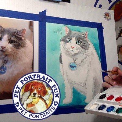 Paint Night SIP and PAINT A PET PORTRAIT FUN- Online