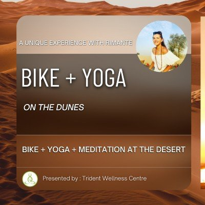 Bike  Yoga  Meditation at the Desert