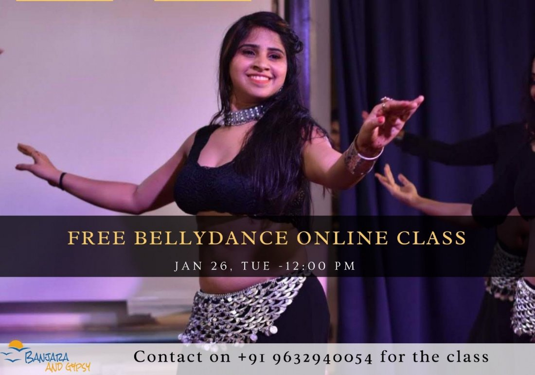 Free Bellydance Online Class, 26 January | Online Event | AllEvents.in