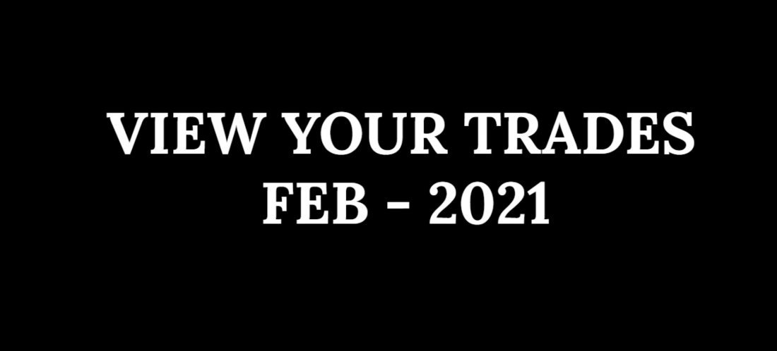 VIEW YOUR TRADES - FEB 2021 - 1 MONTH SUBSCRIPTION | Online Event | AllEvents.in