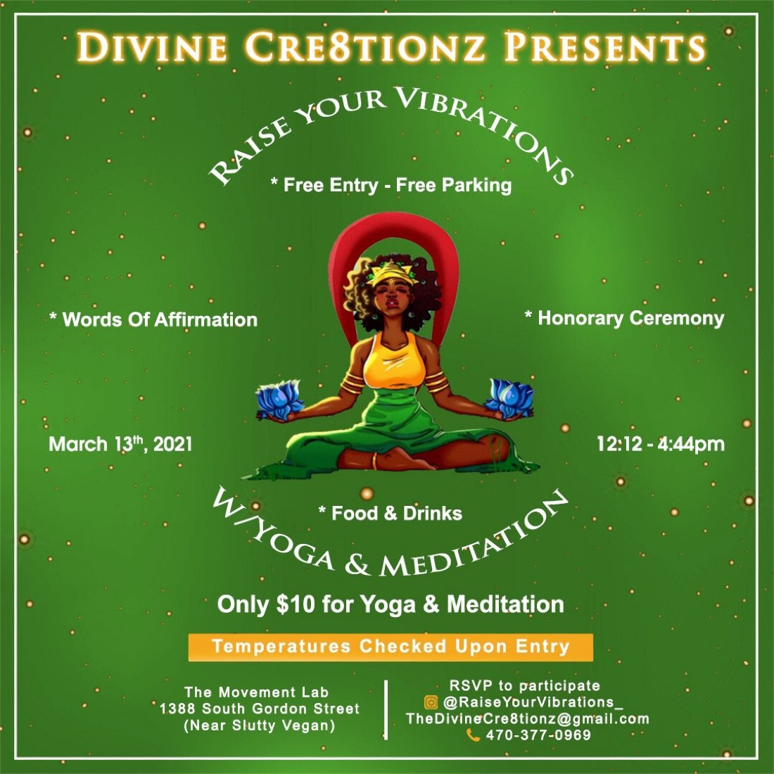 Raise Your Vibrations, 13 March | Event in Atlanta | AllEvents.in