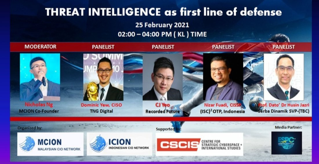THREAT INTELLIGENCE AS FIRST LINE OF DEFENCE (2) | Online Event | AllEvents.in