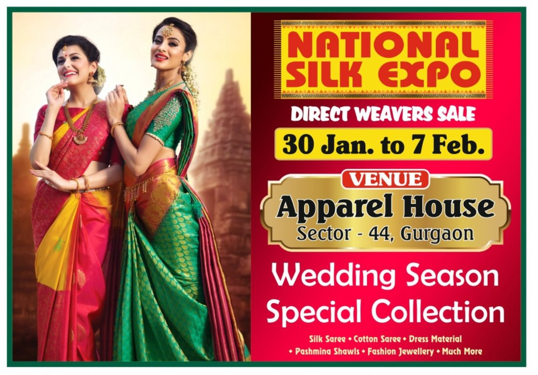 National Silk Expo - Direct Weavers Sale | Event in Gurgaon | AllEvents.in