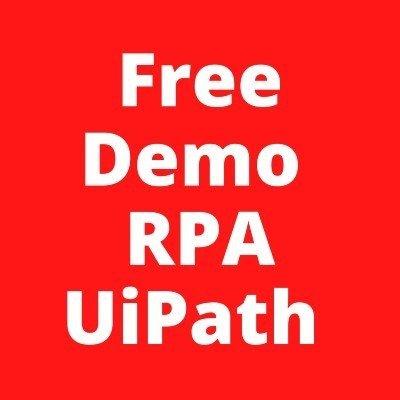 Free Demo  RPA UiPath (Classroom)