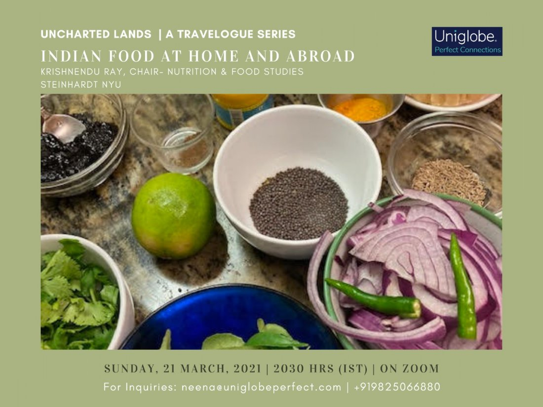 Indian Food at Home and Abroad, 21 June | Online Event | AllEvents.in
