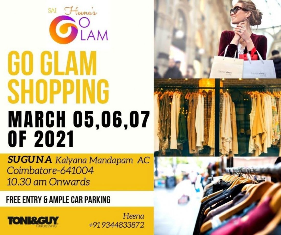 Go glam shopping exhibition, 5 March   Event in Coimbatore   AllEvents.in