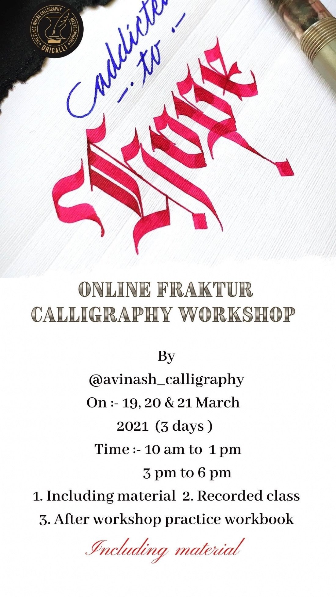Fraktur calligraphy workshop online, 19 March | Online Event | AllEvents.in