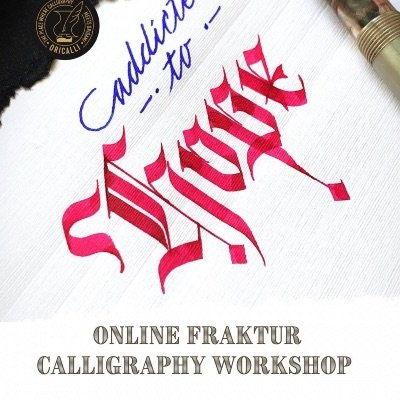 Fraktur calligraphy workshop online