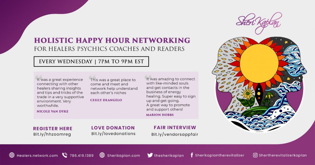 Networking Holistic Happy Hour for Healers Psychics Coaches and Readers, 2 March | Online Event | AllEvents.in