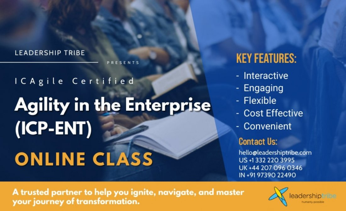 Agility in the Enterprise (ICP-ENT) | August 2021, 2 August | Online Event | AllEvents.in