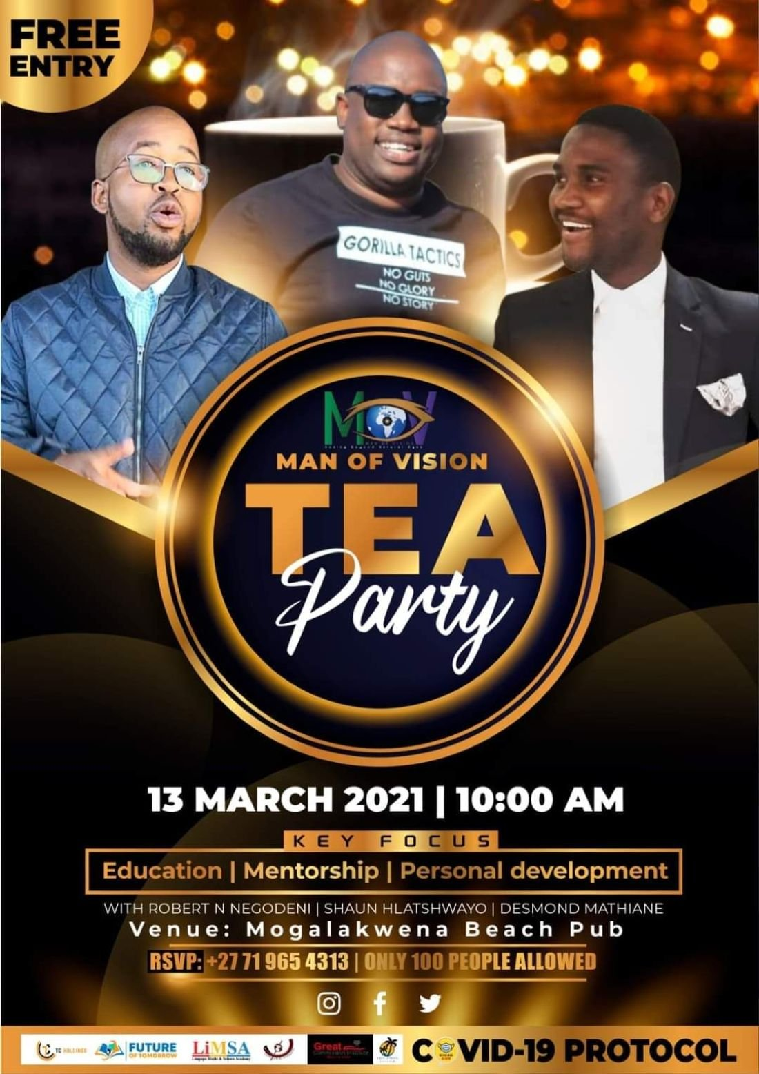 Men of vision tea party | Event in Mokopane | AllEvents.in