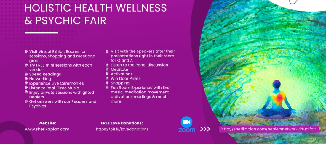 Holistic Health, Wellness and Psychic Fair Free Experience on Zoom, 27 March | Online Event | AllEvents.in