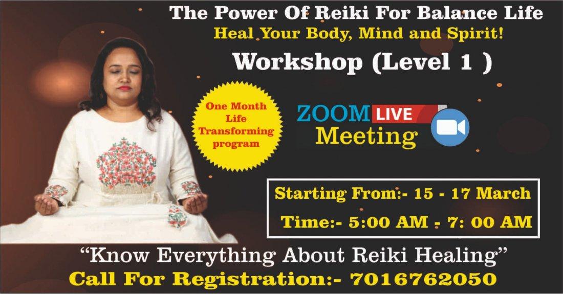 Dr Yogini Sai's Reiki Healing Workshop (Level 1), 15 March | Online Event | AllEvents.in