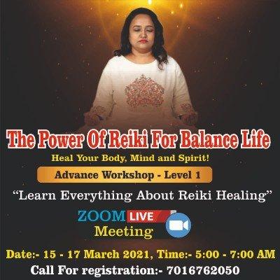 Dr Yogini Sais Reiki Healing Workshop (Level 1)