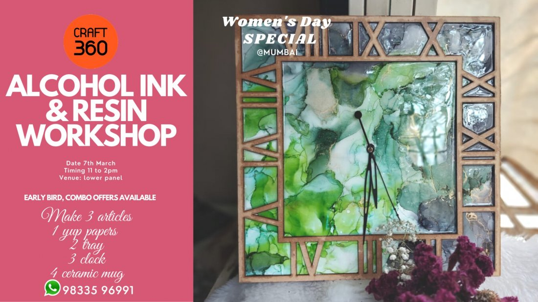 Alcohol ink & resin workshop, 7 March | Event in Mumbai | AllEvents.in