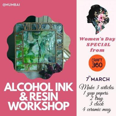 Alcohol ink & resin workshop