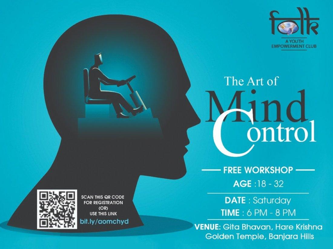 ART OF MIND CONTROL ~ Free Workshop at ISKCON - Hare Krishna Golden Temple   Event in Hyderabad   AllEvents.in