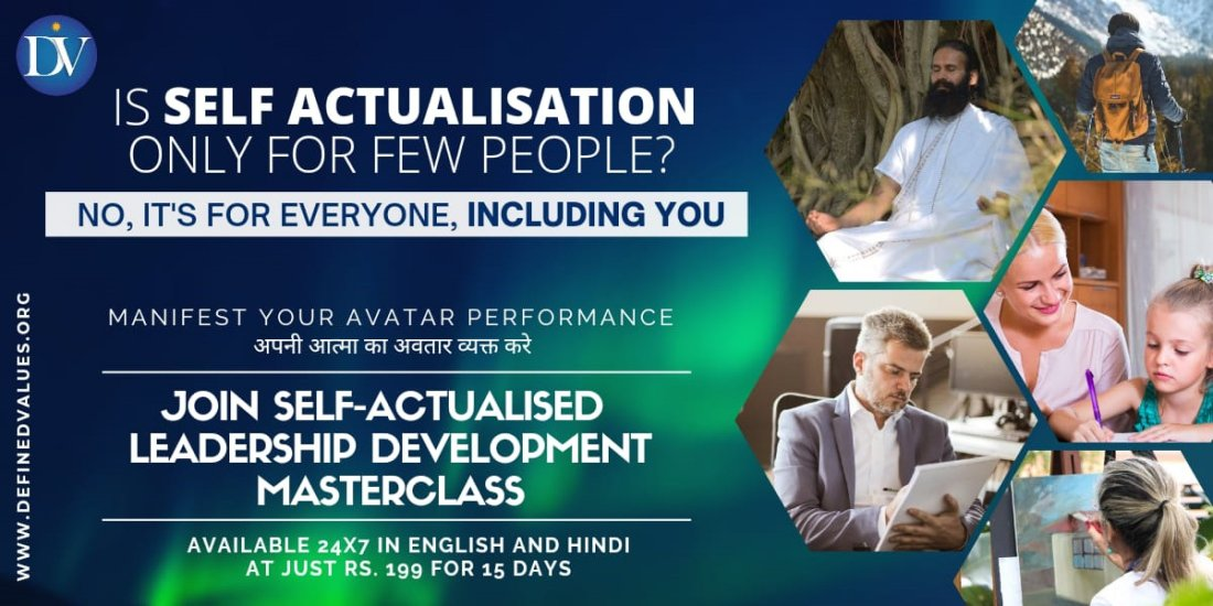 Self-Actualized Leadership Development Masterclass (24x7 - English and Hindi) | Online Event | AllEvents.in
