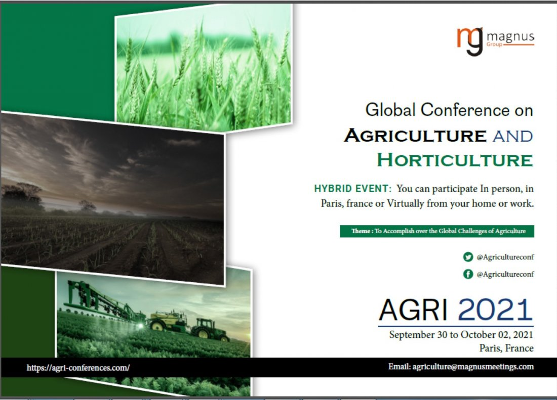 Global Conference on Agriculture and Horticulture, 30 September | Event in Paris | AllEvents.in