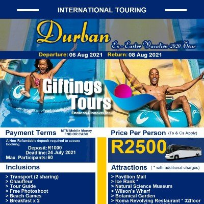 Ex Durban Easter Vacation 2020 Tour