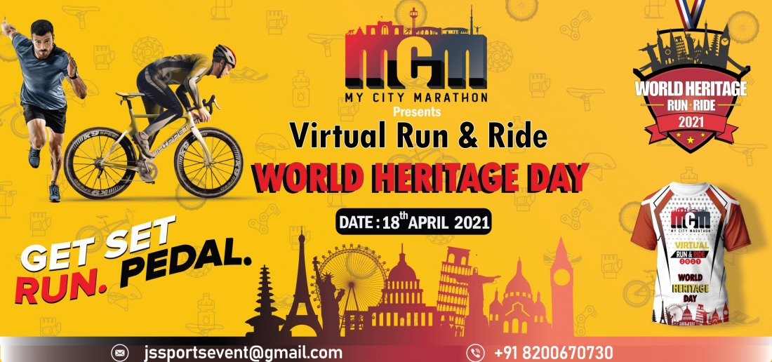World Heritage Virtual Run & Ride 2021, 18 April | Online Event | AllEvents.in