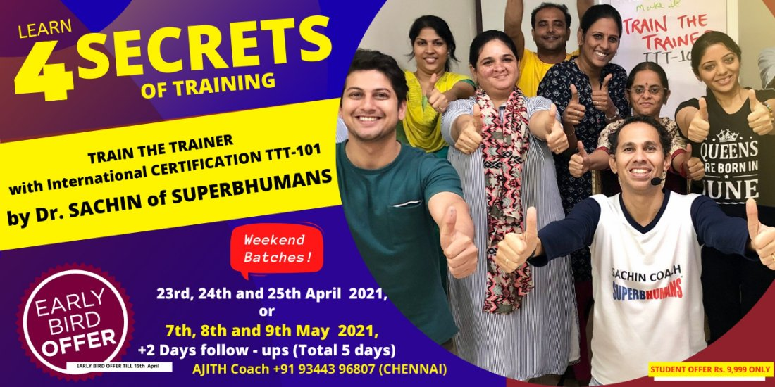 Train The Trainer (International Certification Program) - Do you want to be a professional TRAINER? | AllEvents.in