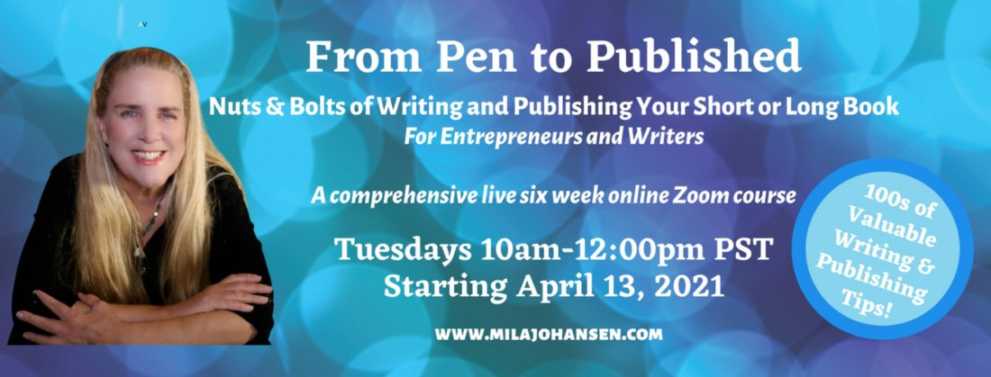 From Pen to Published - Nuts & Bolts of Writing & Publishing 6 Week Course  | Online Event | AllEvents.in