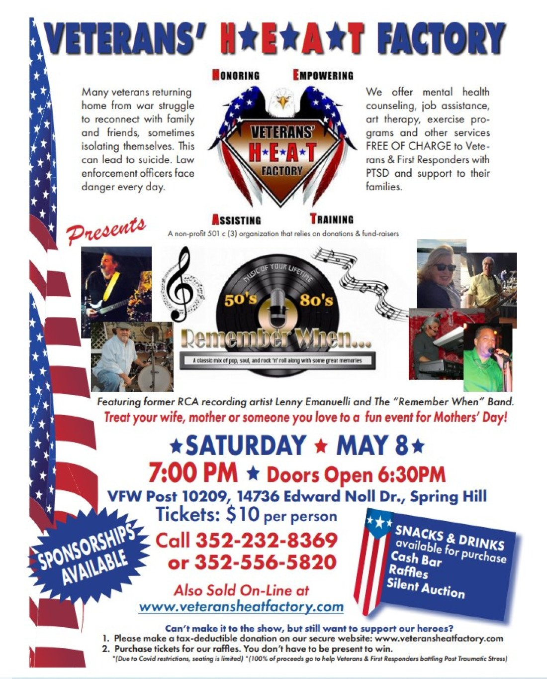Rockin' & Rollin' For Our Heroes   Event in Spring Hill   AllEvents.in