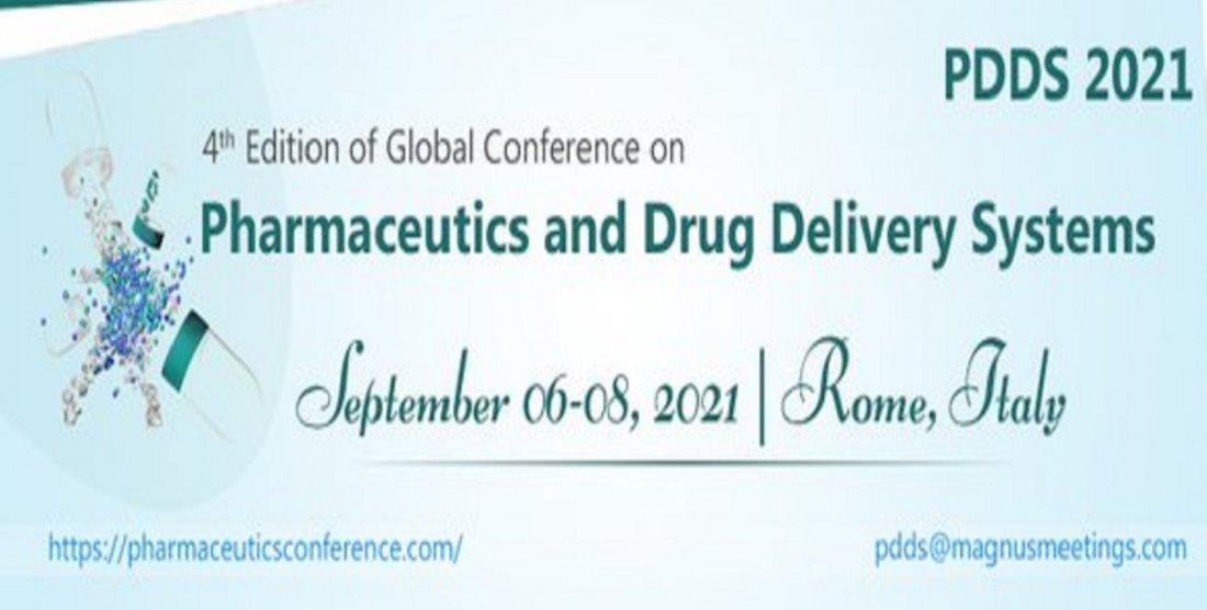 4th Edition of Global Conference on Pharmaceutics and Novel Drug Delivery Systems, 6 September | Event in Rome