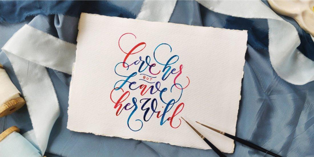 Paintbrush Lettering Workshop , 12 June | Online Event | AllEvents.in