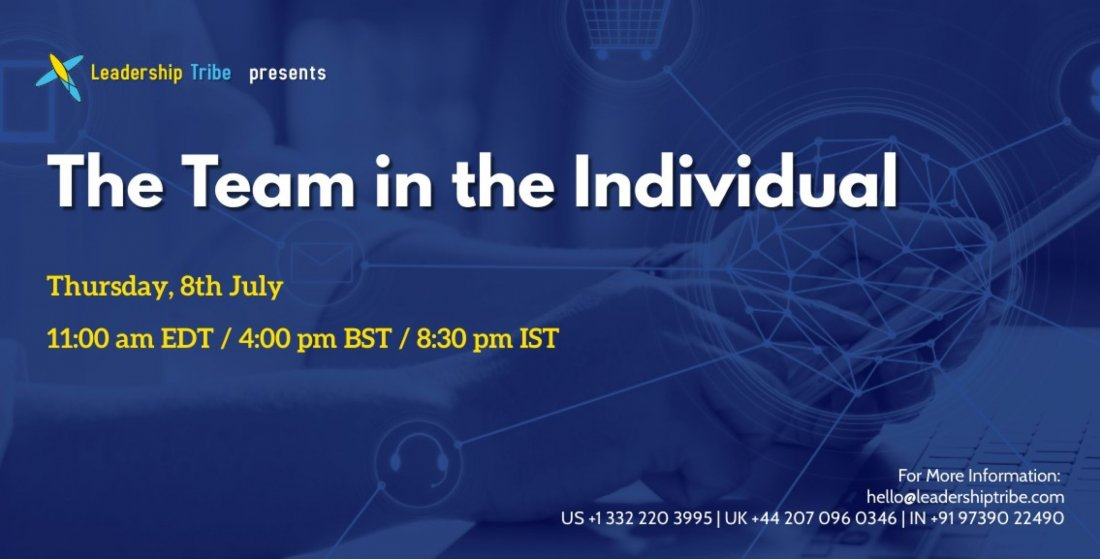 The Team in the Individual - Webinar, 8 July | Online Event | AllEvents.in
