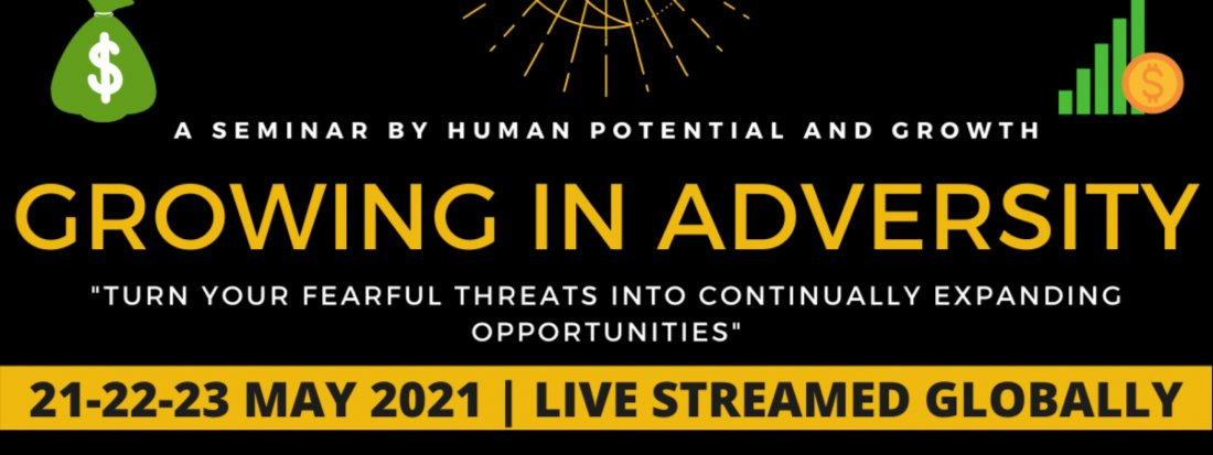 Growing In Adversity , 21 May | Online Event | AllEvents.in