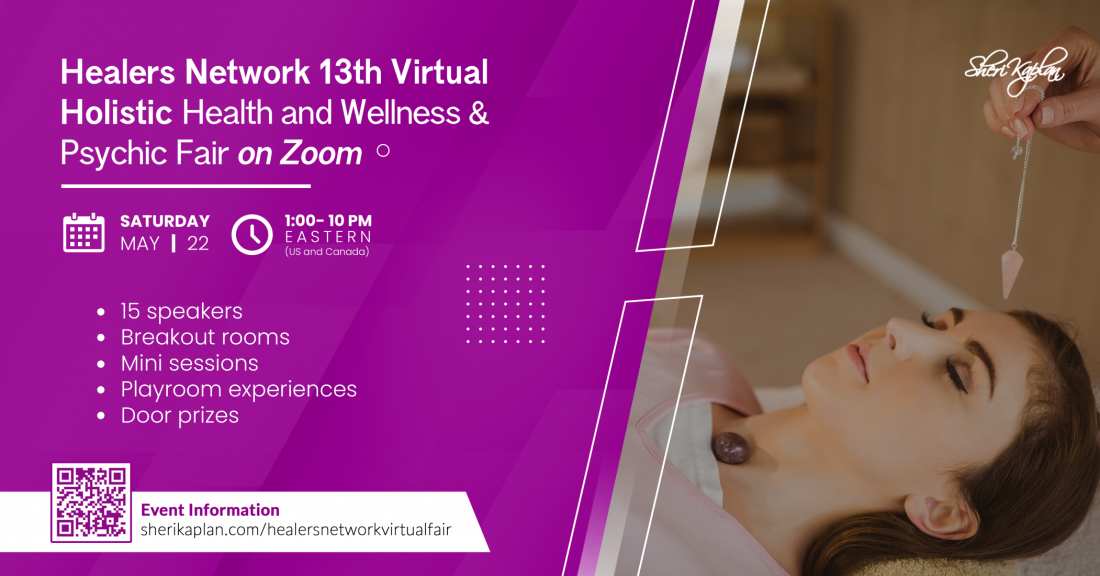 Virtual  Psychic, Holistic Health, Wellness Fair on Zoom, 22 May | Online Event | AllEvents.in