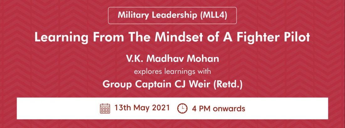 Military Leadership Learnings 4: Learning from the mindset of a Fighter Pilot, 13 May | Online Event | AllEvents.in