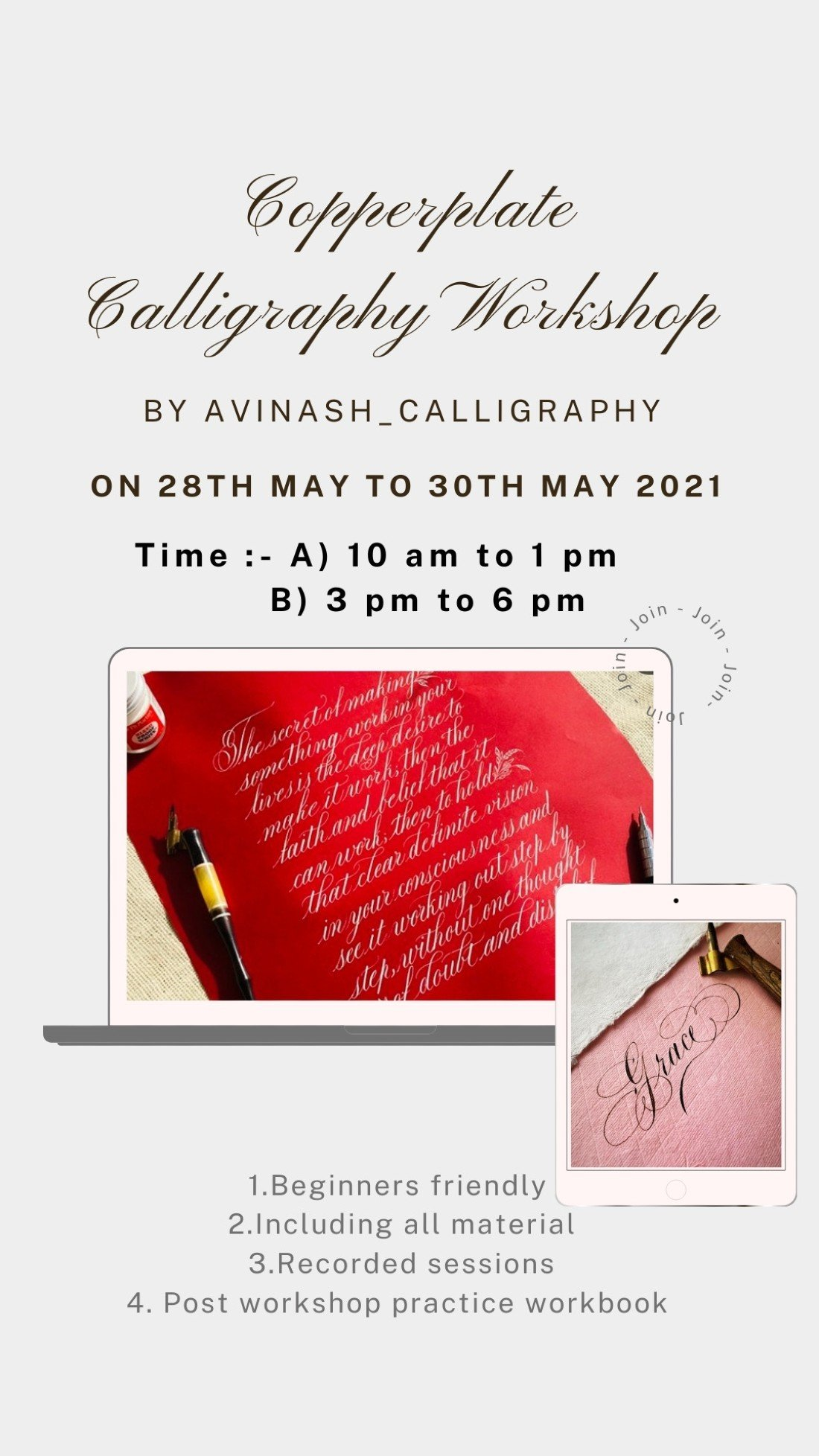 Copperplate calligraphy workshop, 28 May | Online Event | AllEvents.in
