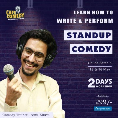 Weekend Standup Comedy Workshop On Zoom by Cafe Comedy