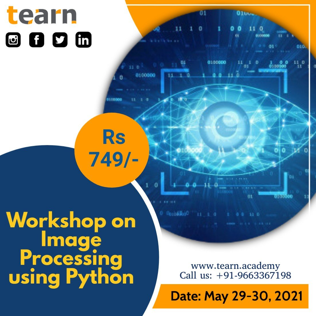 Workshop on Image Processing using Python, 29 May | Online Event | AllEvents.in