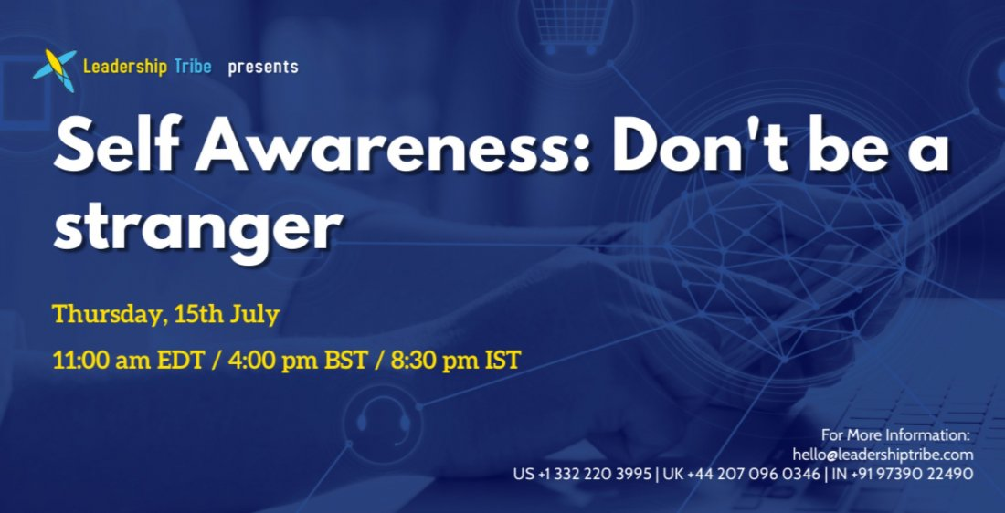 Self Awareness: Don't be a stranger, 15 July | Online Event | AllEvents.in
