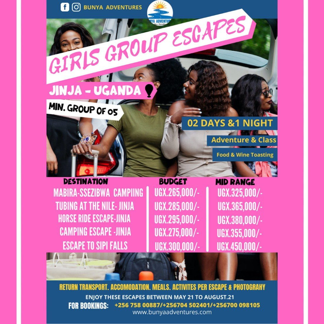Girls group escapes in uganda   Event in Jinja   AllEvents.in