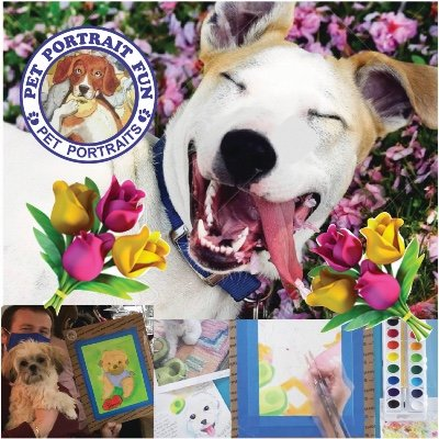 Paint Your Pet Portrait Fun - Sip and Paint at Barking Dog