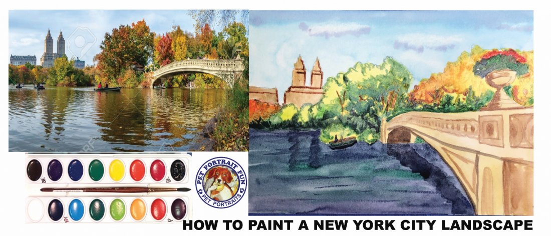 HOW TO WATERCOLOR - New York City Landscape Bridge, 12 May | Online Event | AllEvents.in