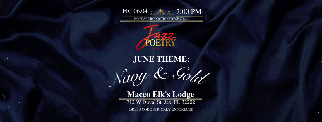 """Jazz Poetry Cafe // """"Navy & Gold Edition""""   Event in Jacksonville   AllEvents.in"""