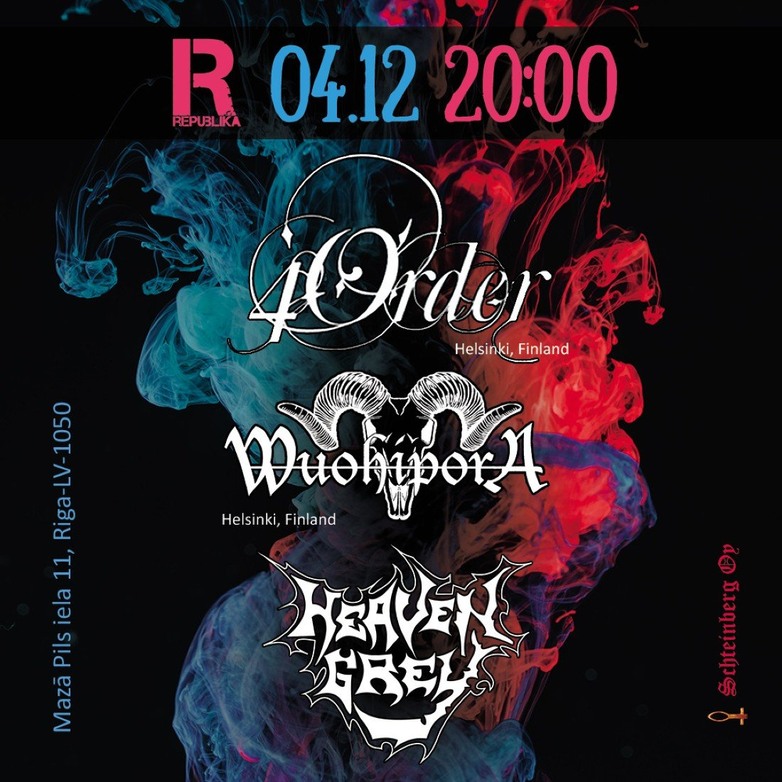 Wuohipora, 4Order (both Finland) and Heaven Grey in Riga, 4 December | Event in RIGA | AllEvents.in