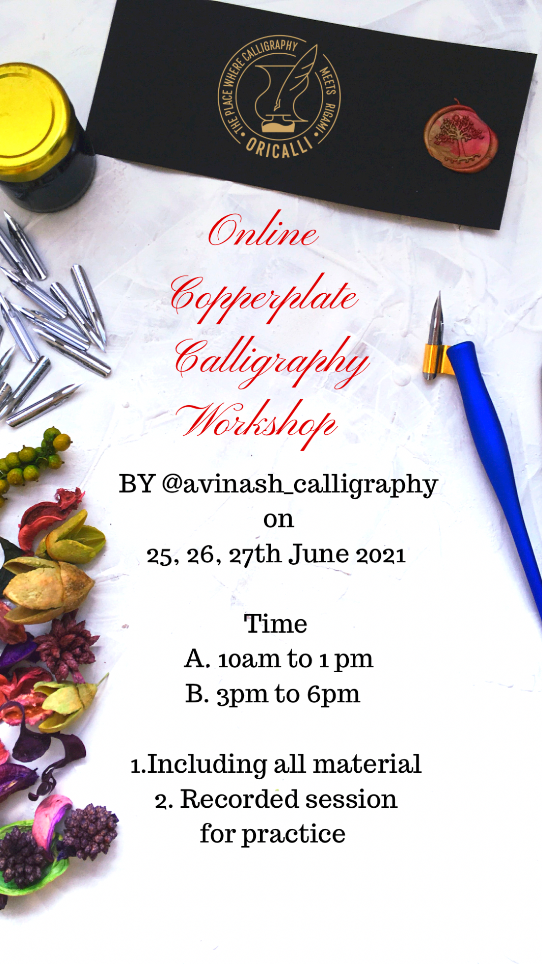 Copperplate Calligraphy workshop, 25 June   Online Event   AllEvents.in