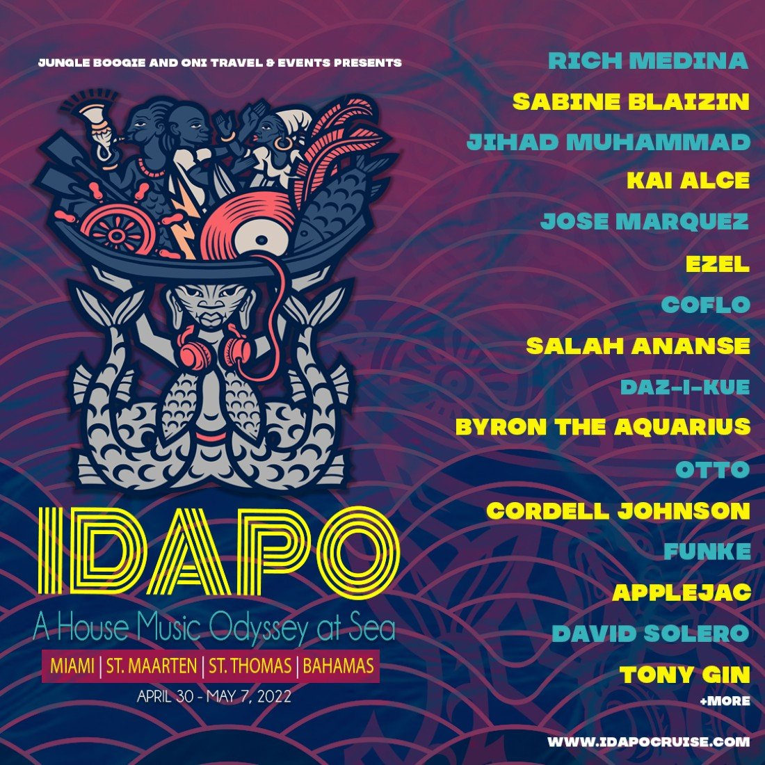 April 30-May 7, 2022-IDAPO-A HOUSE MUSIC ODYSSEY AT SEA, 30 April | Event in Miami | AllEvents.in