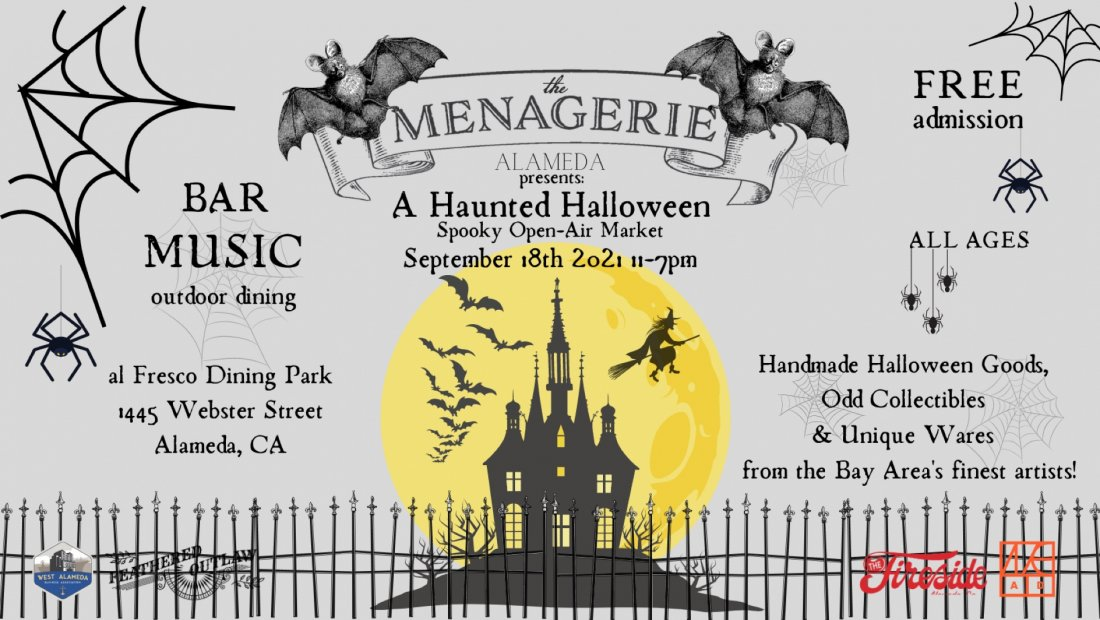 The Menagerie's Haunted Halloween Market, 18 September   Event in Alameda   AllEvents.in