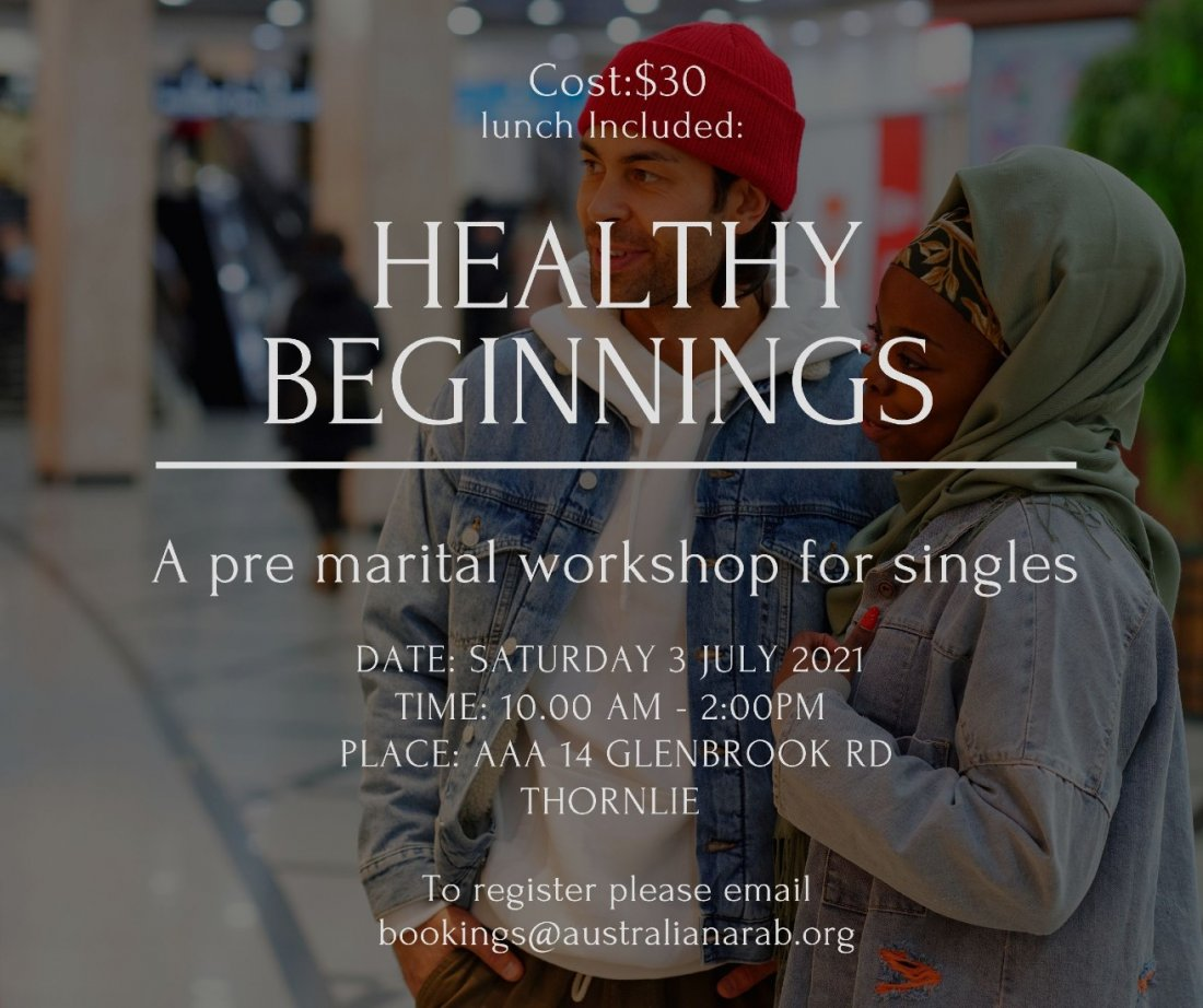 Healthy beginnings - A pre marital workshop for singles, 3 July | Event in Perth | AllEvents.in